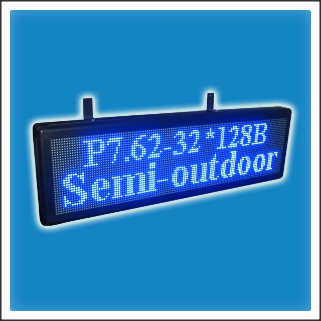 P7.62mm 32 Pixels Height DIP LEDs Programmable LED Moving Message Banner Display Sign