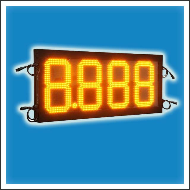 HTD-GP12 12 Inches Digit LED Gas Station Price Changer Display Sign