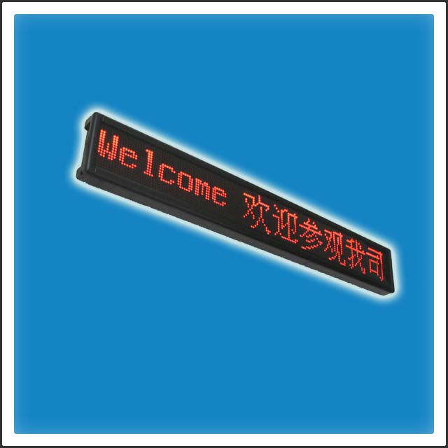 P4.75mm 80mm Height Matrix LEDs Indoor LED Scrolling Message Display Sign